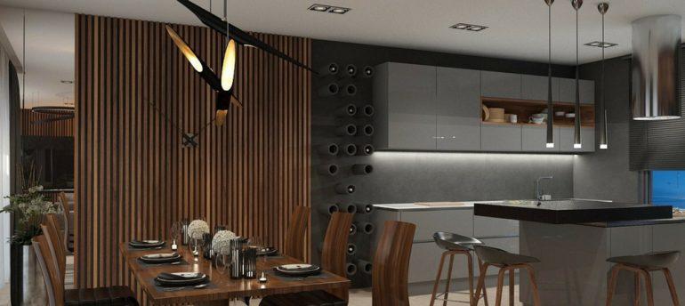 DelightFULL's Mid-Century Lamps Shine in Open Plan Kitchen in Greece